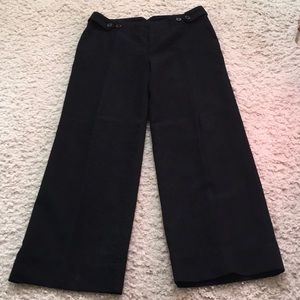 Gap, 6A, black wide straight leg wool lined pants